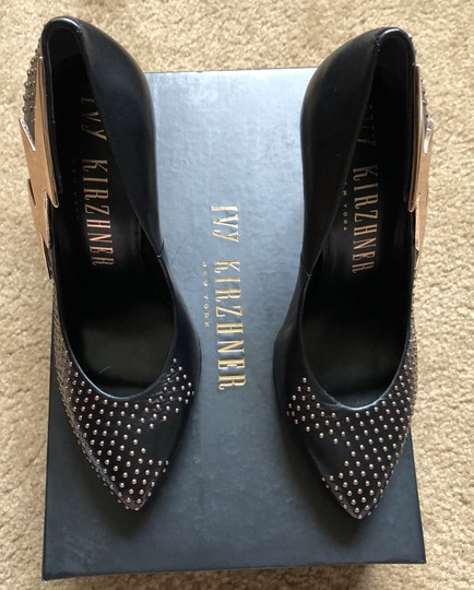 Ivy Kirzhner New Lightning Black Stiletto Studded NWT-SALE!!-Just reduced-Ultra RARE-Black Studs Pumps