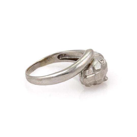 Other Platinum & Diamond Panther Head Bypass Ring