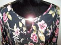 Espresso Hardware Top Black w/Floral Print and Gold Accents Image 2