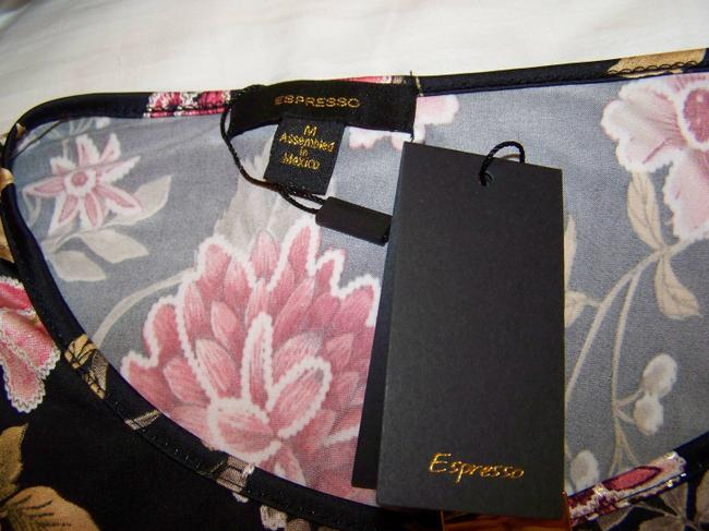 Espresso Hardware Top Black w/Floral Print and Gold Accents Image 5