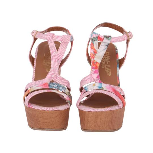 Pin-Up Stars Summer Sandals Sandals Platform Sandals Pink Wedges