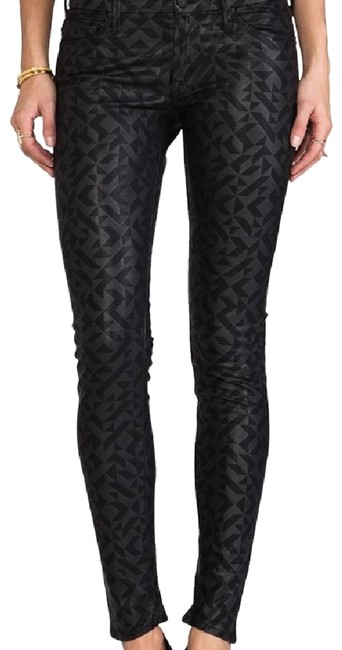 Preload https://item1.tradesy.com/images/mother-black-faux-leather-skinnies-skinny-jeans-size-4-s-27-23336650-0-1.jpg?width=400&height=650