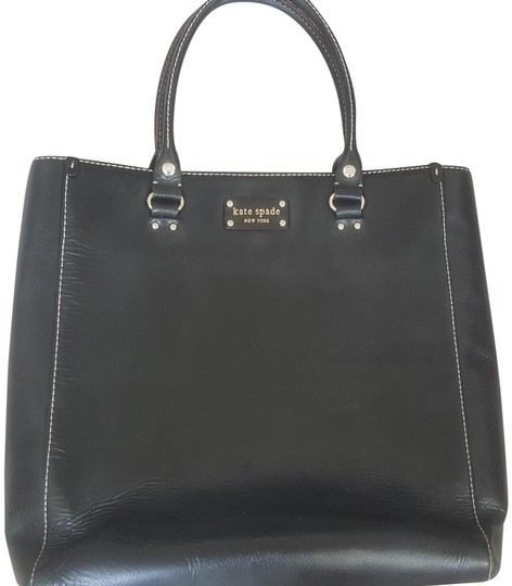 Preload https://item1.tradesy.com/images/kate-spade-tall-large-black-leather-tote-23336660-0-1.jpg?width=440&height=440
