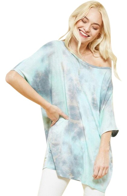 Preload https://item5.tradesy.com/images/promesa-aqua-tie-dye-dolman-sleeve-mix-soft-stretch-s-tunic-size-4-s-23336664-0-2.jpg?width=400&height=650