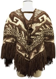 Dolce&Gabbana Hand Knit Peruvian Wool Sweater Cape
