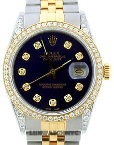 Rolex 1.6CT 36MM ROLEX DATEJUST GOLD S/S WATCH WITH BOX & APPRAISAL
