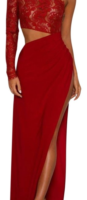 Item - Red 245668 Long Night Out Dress Size 4 (S)