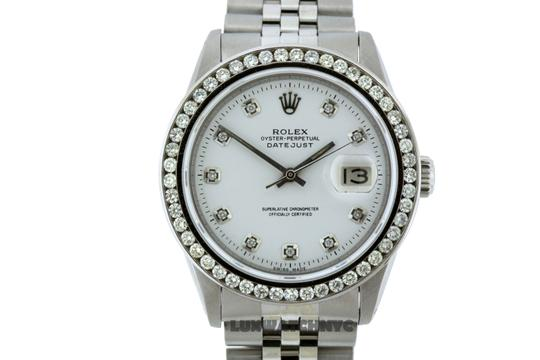 ROLEX 1.7CT 36MM ROLEX DATEJUST S/S WATCH WITH BOX & APPRAISAL Image 1