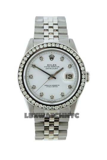 ROLEX 1.7CT 36MM ROLEX DATEJUST S/S WATCH WITH BOX & APPRAISAL Image 2