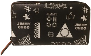 Jimmy Choo New Printed Leather Zip Around Wallet