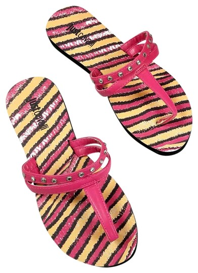 Preload https://item1.tradesy.com/images/just-cavalli-pink-new-women-embellished-t-strap-flip-flops-beach-sandals-flats-size-us-10-regular-m--23336795-0-2.jpg?width=440&height=440