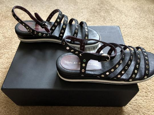 Marc by Marc Jacobs Black Studded Leather BRAND NEW-SALE-JUST REDUCED-Black-STUDS Sandals