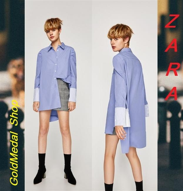 Zara Button Down Shirt Indigo