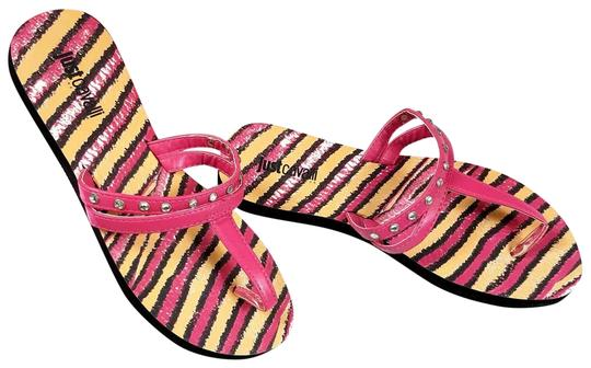 Preload https://item5.tradesy.com/images/just-cavalli-pink-new-women-crystals-embellished-t-strap-beach-flip-flops-sandals-flats-size-us-6-re-23336814-0-2.jpg?width=440&height=440