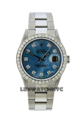 ROLEX 1.6CT 36MM ROLEX DATEJUST S/S WATCH WITH BOX & APPRAISAL Image 1