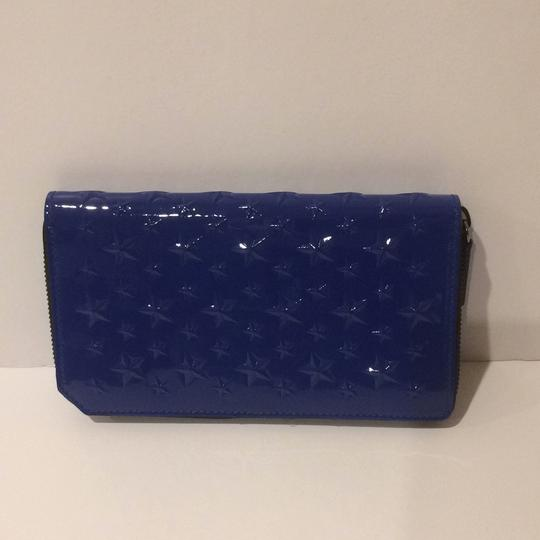 Jimmy Choo New Star Embossed Patent Leather Zip Around Wallet