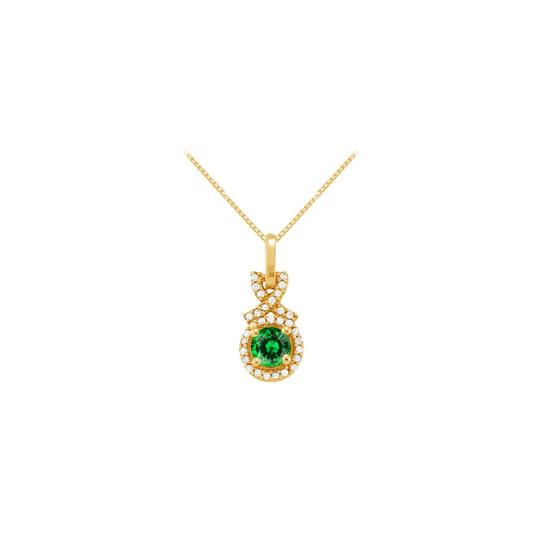 Preload https://img-static.tradesy.com/item/23336856/green-yellow-may-birthstone-emerald-with-cz-halo-pendant-gold-vermeil-necklace-0-0-540-540.jpg