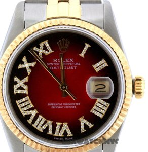 ROLEX 36MM DATEJUST GOLD S/S WITH APPRAISAL