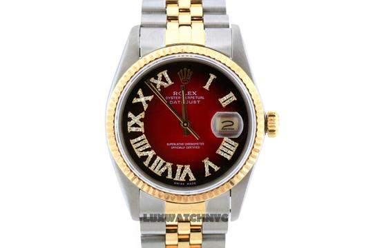 Rolex 36MM ROLEX DATEJUST GOLD S/S WATCH WITH BOX & APPRAISAL