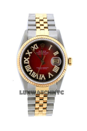 ROLEX 36MM DATEJUST GOLD S/S WITH APPRAISAL Image 2
