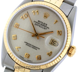 ROLEX 36mm Datejust Gold S/S with Appraisal Watch