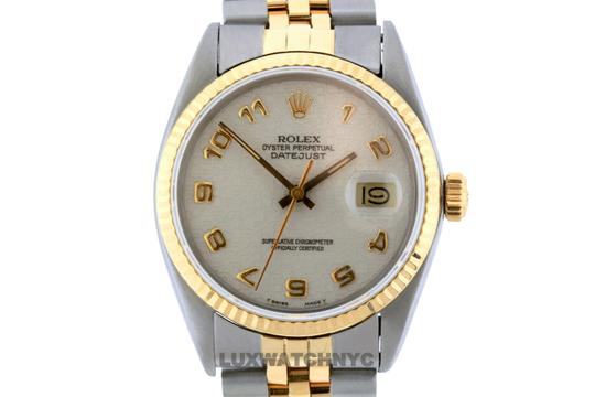 ROLEX 36mm Datejust Gold S/S with Appraisal Watch Image 1