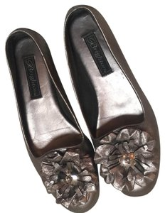 Brighton Flower Accent Comfort Footbed Round Toe Mercury Flats