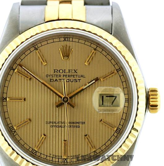 Rolex 36mm Datejust Gold S/S with Box & Appraisal Watch