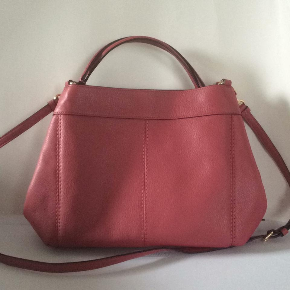 4f976a399796 Coach Lexy Small Rouge Leather Shoulder Bag - Tradesy