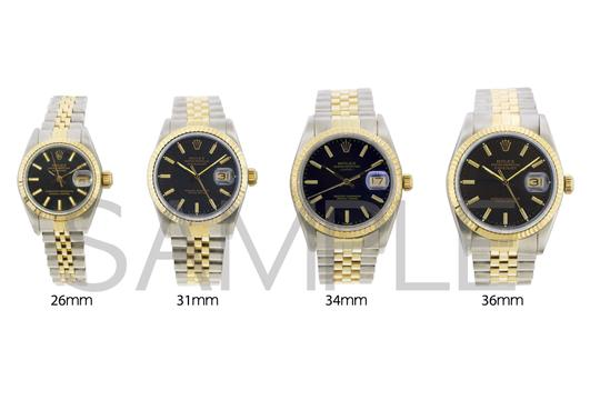 ROLEX 36MM ROLEX DATEJUST GOLD S/S WATCH WITH BOX & APPRAISAL Image 6