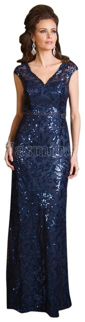 Preload https://img-static.tradesy.com/item/23336947/jade-couture-navy-k168063-long-formal-dress-size-12-l-0-2-650-650.jpg