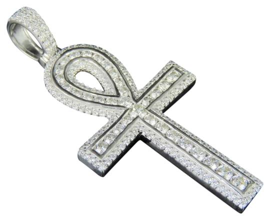 Preload https://item4.tradesy.com/images/jewelry-unlimited-10k-white-gold-real-diamond-ankh-cross-pendant-3-ct-21-charm-23337003-0-1.jpg?width=440&height=440