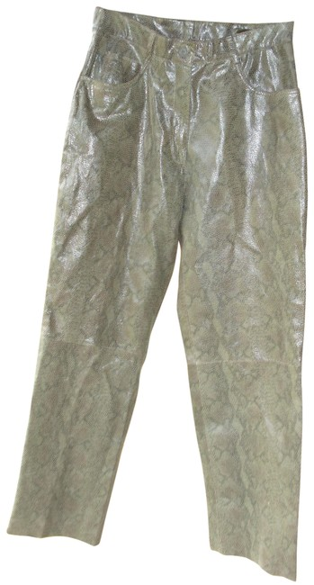 Preload https://item5.tradesy.com/images/adler-collection-olive-green-coated-embossed-leather-pants-snakeskin-straight-leg-jeans-size-33-10-m-23337009-0-2.jpg?width=400&height=650