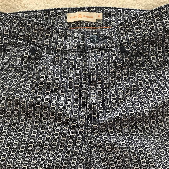 Tory Burch Straight Pants blue/white