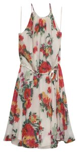 Joie short dress Cream Floral Print Background on Tradesy