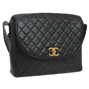 Chanel Leather Limited Edition Vintage Quilted Cross Body Bag
