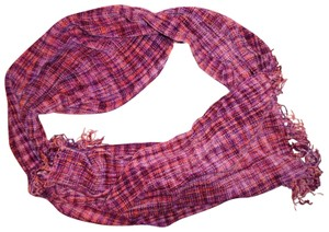 Unbranded Plaid Velour Soft Fringe Ends Boho Scarf