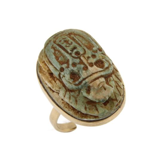 Preload https://item2.tradesy.com/images/19373-jade-egyptian-scarab-beetle-18k-gold-ring-23337081-0-0.jpg?width=440&height=440