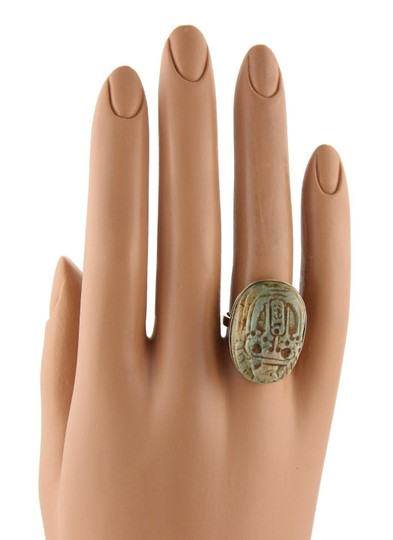 Other Jade Egyptian Scarab Beetle 18k Gold Ring