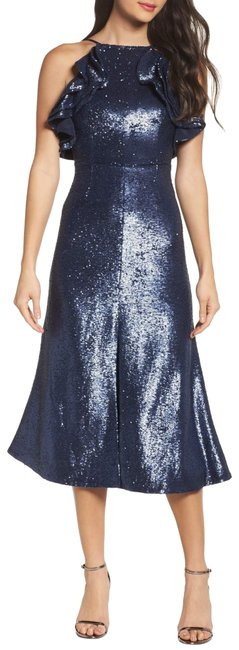 Preload https://item1.tradesy.com/images/cmeo-collective-navy-cmeo-illuminated-sequin-ruffle-midi-cocktail-dress-size-8-m-23337100-0-1.jpg?width=400&height=650