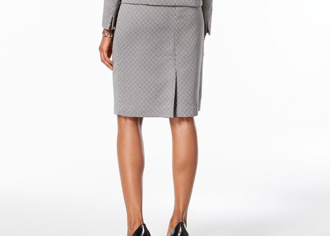 Le Suit Skirt Khaki Multi