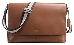Coach New With Tags Men's Dark Saddle Messenger Bag