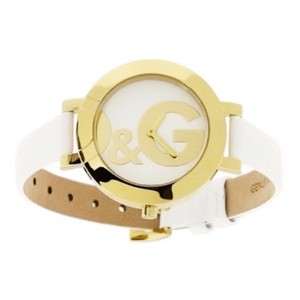 Dolce&Gabbana D&G DW0666 Hoop la Gold White Leather Watch