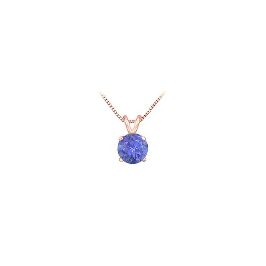 Preload https://img-static.tradesy.com/item/23337183/blue-rose-gold-14k-prong-set-created-tanzanite-solitaire-pendant-100-ct-tg-necklace-0-0-540-540.jpg