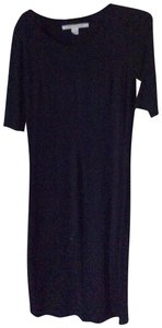Navy Maxi Dress by Diane von Furstenberg Knit Stretchy Midi Cotton