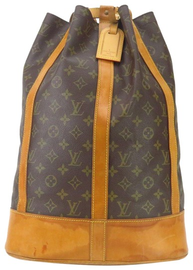 Preload https://item3.tradesy.com/images/louis-vuitton-randonnee-gm-monogram-with-wallet-brown-canvas-backpack-23337202-0-1.jpg?width=440&height=440