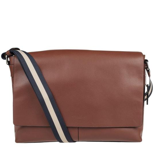 Coach New With Tags Dark Saddle Messenger Bag