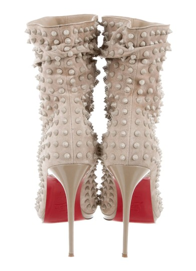 CHRISTIAN LOUBOUTIN Spiked Guerilla beige Boots Image 1
