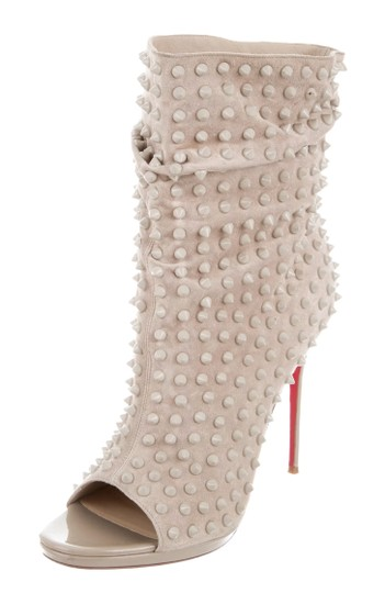 CHRISTIAN LOUBOUTIN Spiked Guerilla beige Boots Image 2