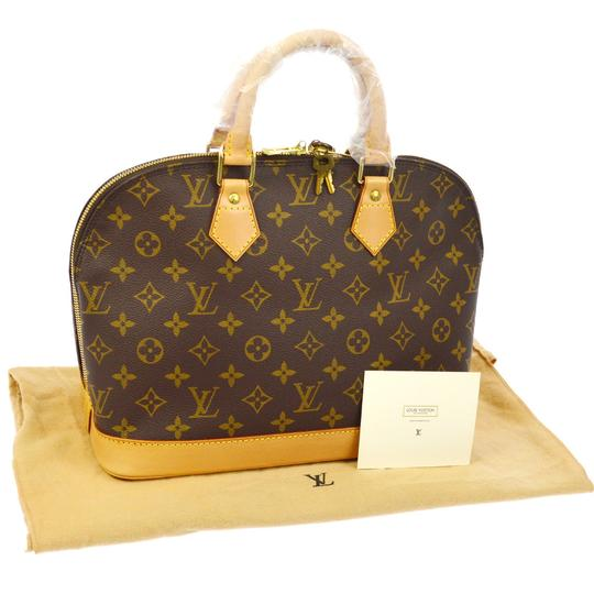 Preload https://item2.tradesy.com/images/louis-vuitton-alma-like-new-mm-monogram-brown-canvas-leather-satchel-23337251-0-1.jpg?width=440&height=440